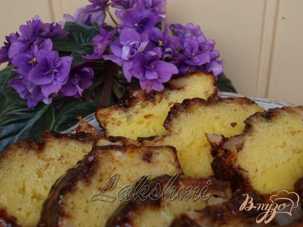 Рецепт Яблочный манник с шоколадной глазурью