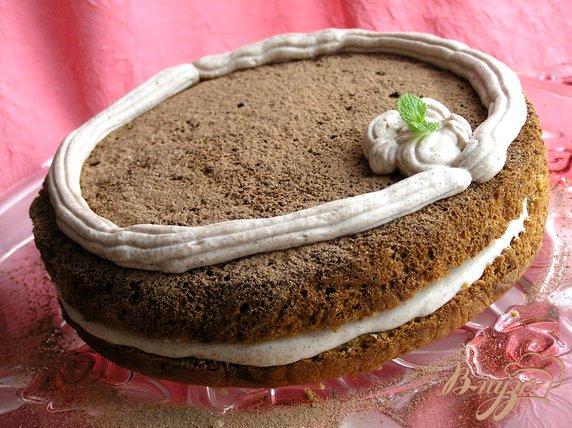 фото рецепта: Шифоновый торт с кремом из маскарпоне