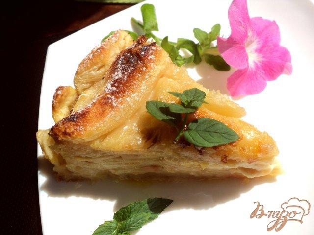 Фото приготовление рецепта: Пирог «Яблоки в коньяке» шаг №7