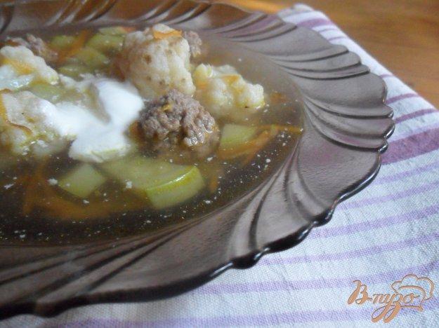 Рецепт Суп с фрикадельками и цветной капустой