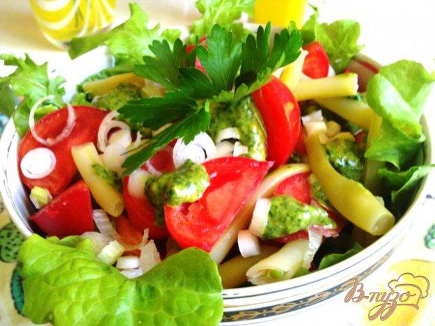 Рецепт Летний салат со спаржевой фасолью