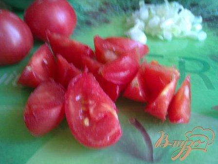 Летний салат со спаржевой фасолью