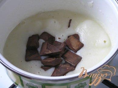 Шоколадно-манный мусс