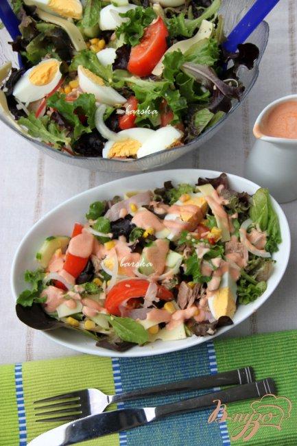 Фото приготовление рецепта: Шеф-салат шаг №7