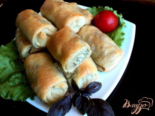 Рецепт Пирожки закусочные с курицей, грибами и рисом.