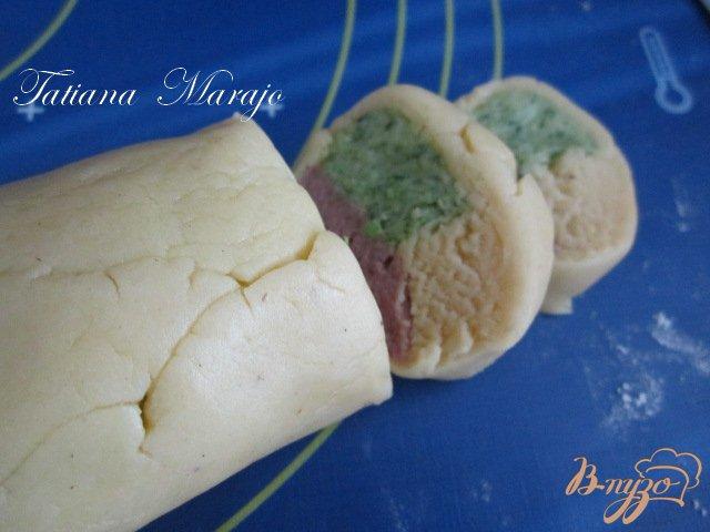 Фото приготовление рецепта: Разноцветное печенье шаг №6