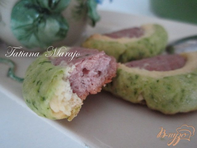 Фото приготовление рецепта: Разноцветное печенье шаг №10