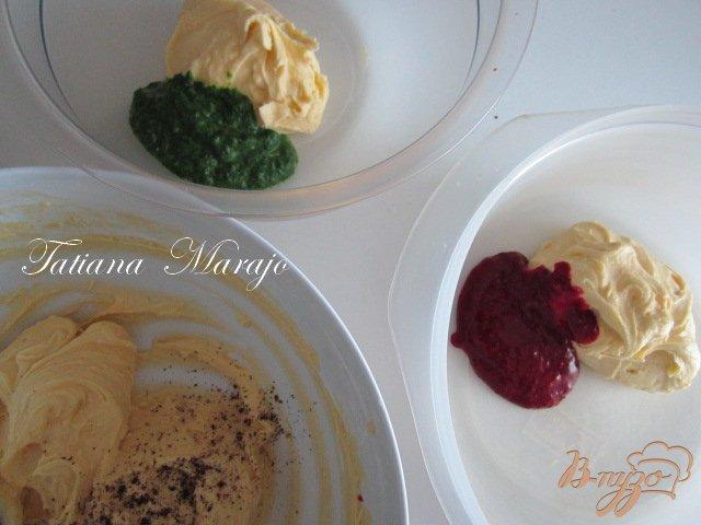 Фото приготовление рецепта: Разноцветное печенье шаг №3