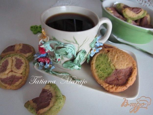 Рецепт Разноцветное печенье