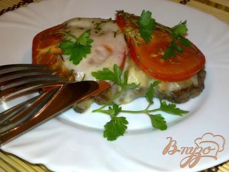 фото рецепта: Флорентийская отбивная с грибами