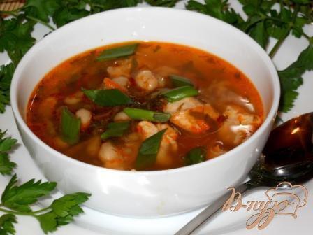 фото рецепта: Фасолевый суп с помидорами