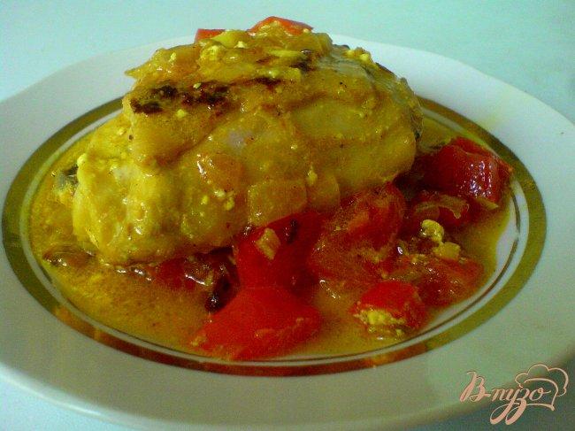 Фото приготовление рецепта: Курица в соусе карри шаг №7