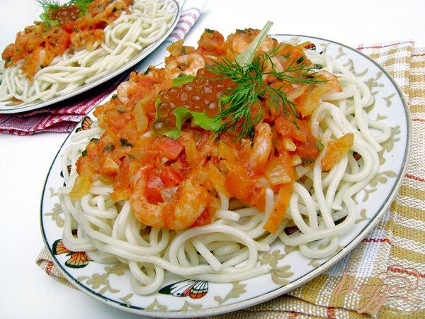 Рецепт Спагетти под креветочно-томатным соусом