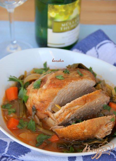 Рецепт Пикантная свинина в белом вине.