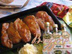 Куриное филе с соусом и сыром