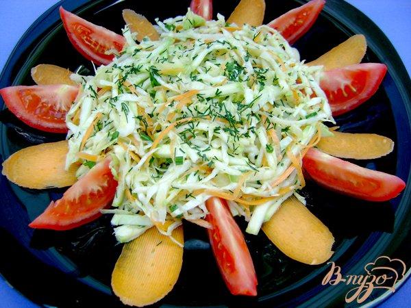 Рецепт Овощной салат со свежим кабачком