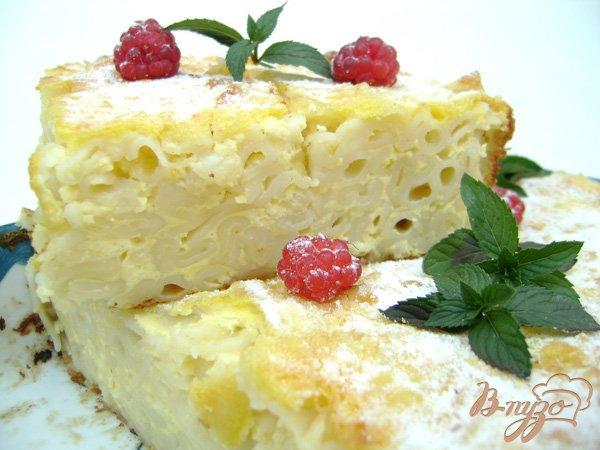Рецепт Запеканка с творогом и макаронами:)