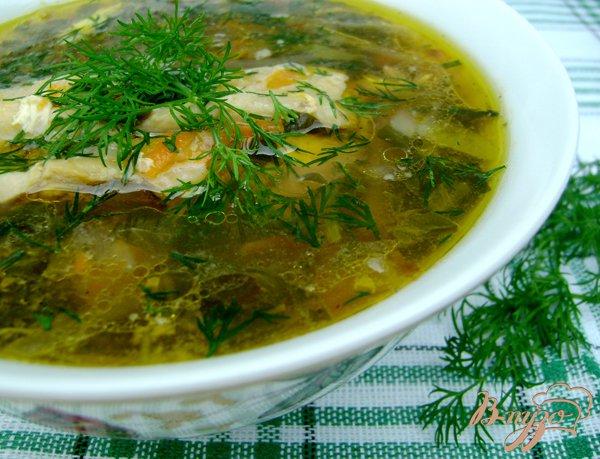 фото рецепта: Суп со щавлем «Зелёный»