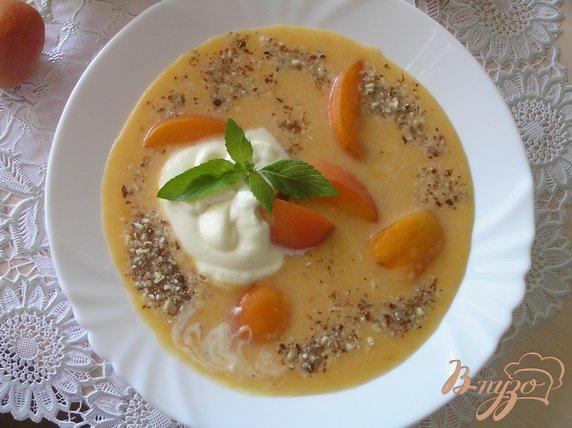 Фото приготовление рецепта: Абрикосовый суп с рисом шаг №7