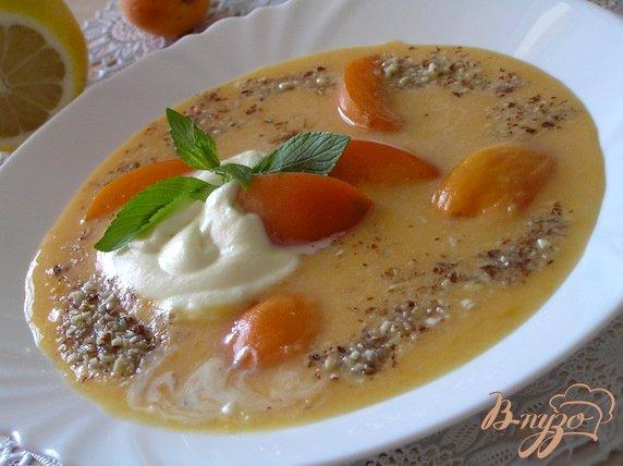 фото рецепта: Абрикосовый суп с рисом