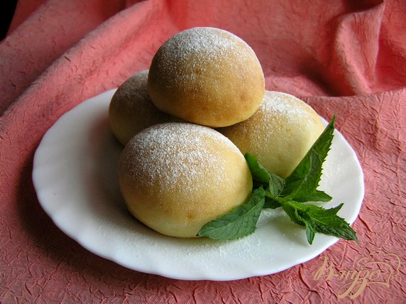 фото рецепта: Творожные булочки с мятным сиропом