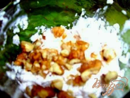 Абрикосовый десерт с творогом и грецкими орехами