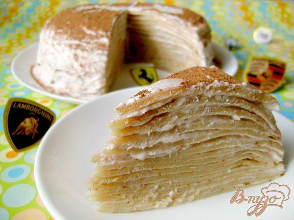 Рецепт Блинный торт с творожно-банановым кремом