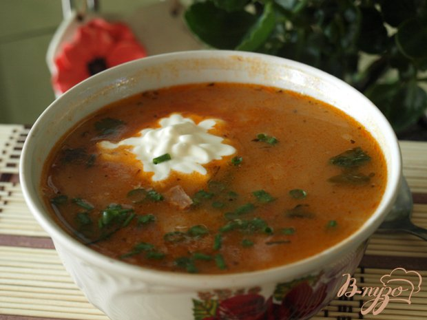 Фото приготовление рецепта: Братиславский суп шаг №4