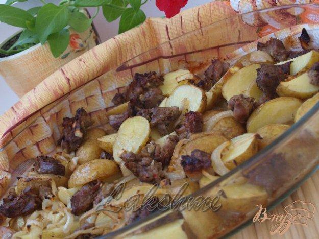 Рецепт Свинина в чесночном маринаде с картофелем в духовке