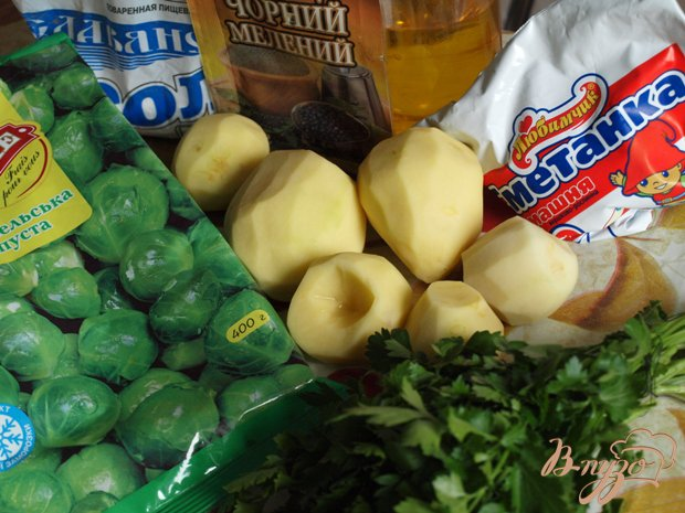 Фото приготовление рецепта: Суп с брюссельской капустой шаг №1