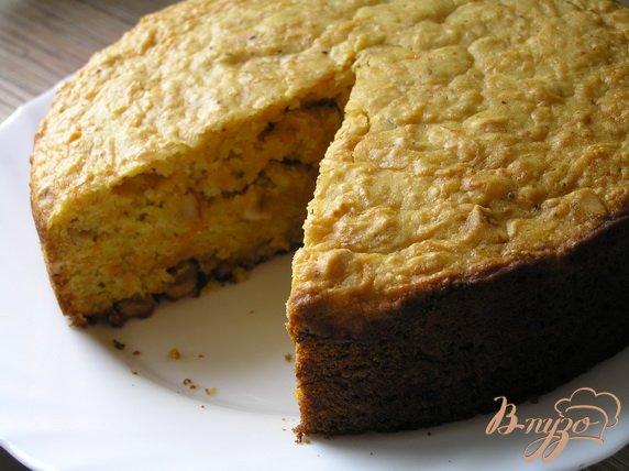 Рецепт Морковный пирог с орехами