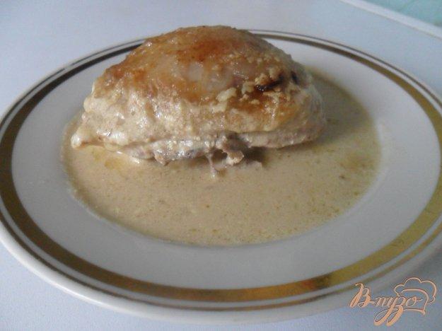 фото рецепта: Курица в сметанно-горчичном соусе