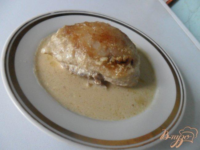Фото приготовление рецепта: Курица в сметанно-горчичном соусе