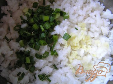 Рисовые котлеты с зеленью