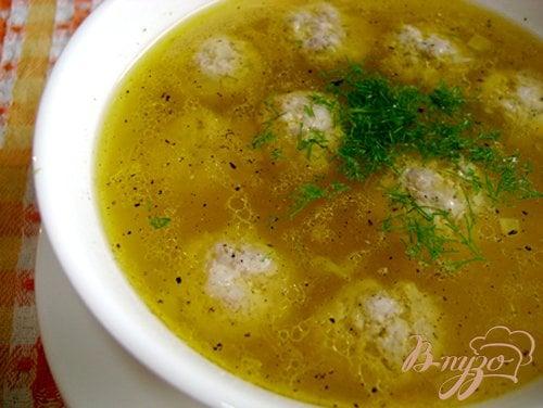 фото рецепта: Суп с тыквой и фрикадельками