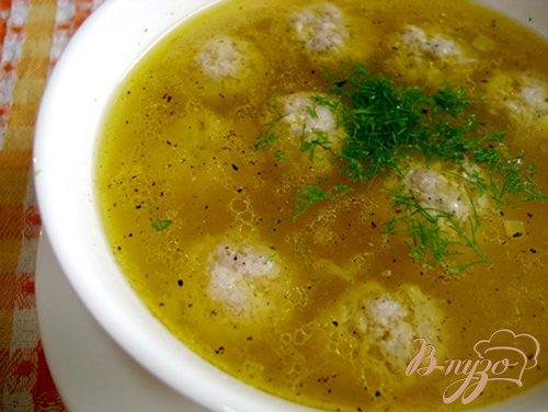 Суп с тыквой и фрикадельками