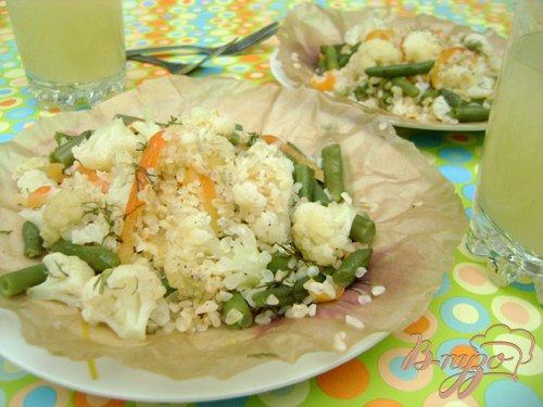 Рецепт Булгур с овощами, отваренный в пергаменте