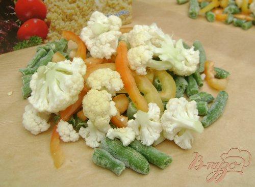 Булгур с овощами, отваренный в пергаменте