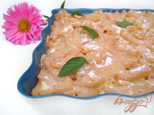 Рецепт Творожно-макаронная запеканка с малиной