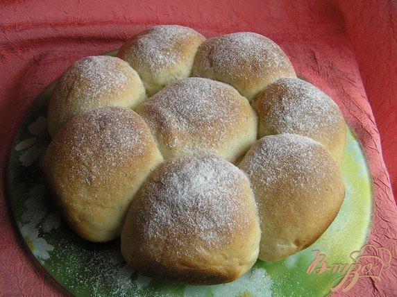 Фото приготовление рецепта: Ванильные булочки (на закваске) шаг №5