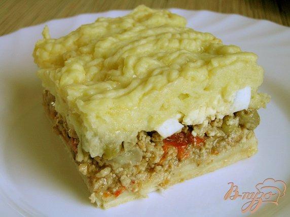 фото рецепта: Аргентинский мясной пирог с картофелем
