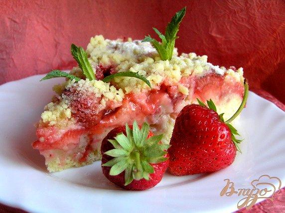фото рецепта: Сочный клубничный пирог