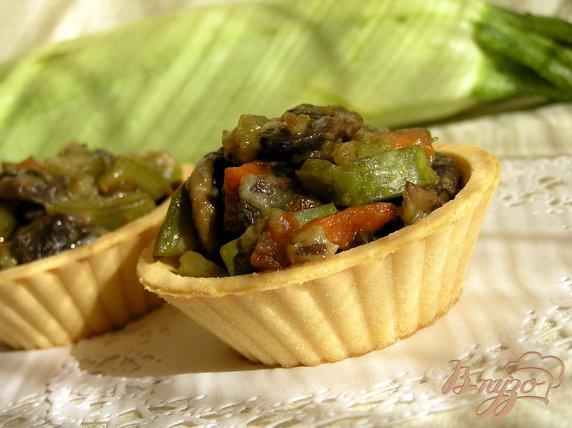 Рецепт Тарталетки с начинкой из овощей и грибов