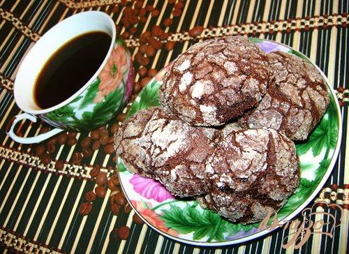 Рецепт Шоколадное печенье «с трещинками»