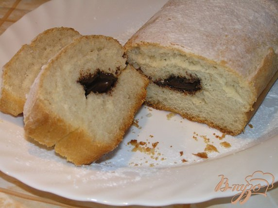 фото рецепта: Десертный батон с шоколадом