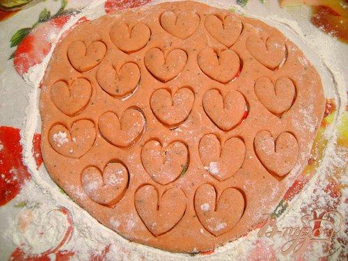 """Песочное печенье с мятой """"Пламенные сердца"""""""