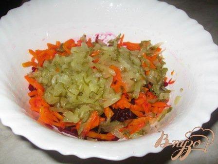 Салат из свеклы по-белорусски.