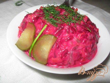 Рецепт Салат из свеклы по-белорусски.