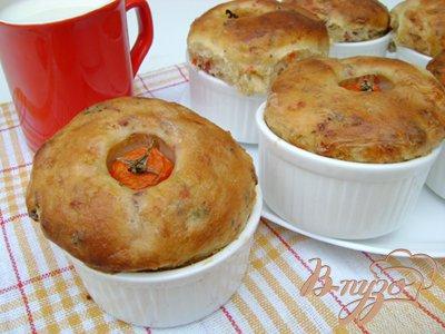 Рецепт Кексы на закуску «Помидорки в норке»