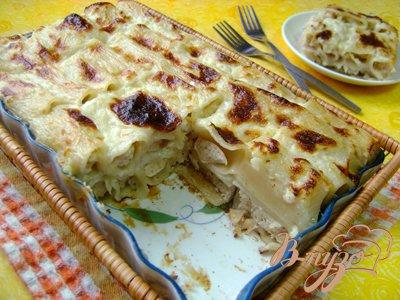 Рецепт Запеканка из фаршированных макарон под сырным соусом!